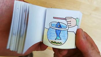 """Ciencia en familia: Taller """"Construïm un flipbook o llibre animat"""""""