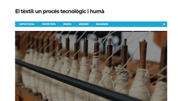 A technological and human process: textiles