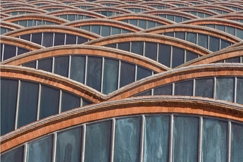 Vista de les voltes a la teulada Mnactec