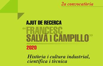 Atorgat l'ajut Francesc Salvà i Campillo 2020