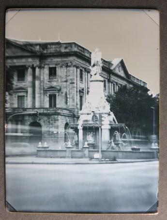 Recreación de la primera imagen fotográfica en España