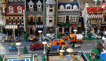 Gathering of LEGO construction fans