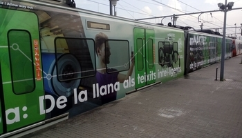 Tren personalizado con motivos del mNACTEC