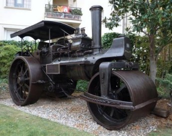 Steam roller and oil press restored