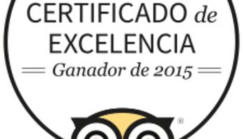 Certificat d'Excel·lència 2015 de TripAdvisor